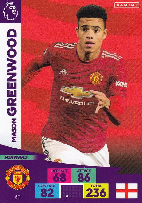 #60 Mason Greenwood (Manchester United) Adrenalyn XL Premier League 2020/21