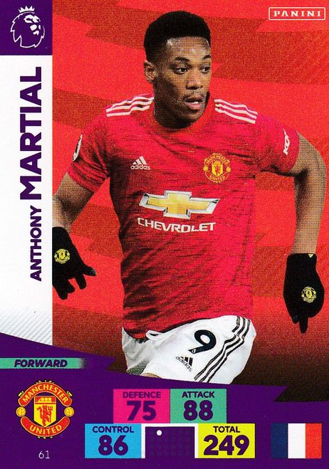 #61 Anthony Martial (Manchester United) Adrenalyn XL Premier League 2020/21