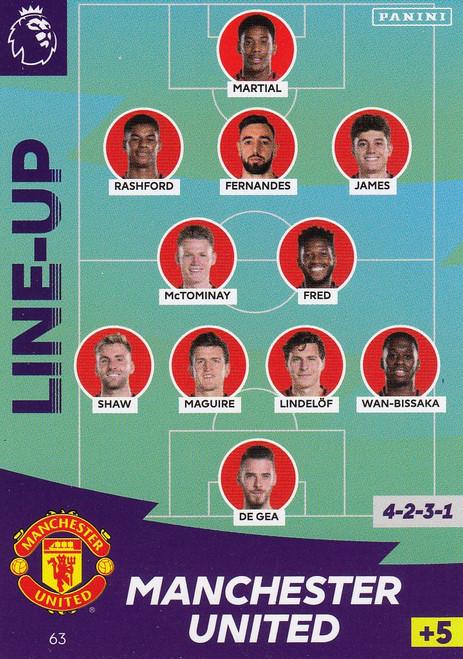 #63 Line Up (Manchester United) Adrenalyn XL Premier League 2020/21