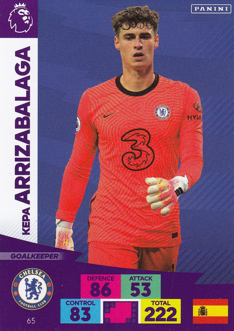 #65 Kepa Arrizabalaga (Chelsea) Adrenalyn XL Premier League 2020/21