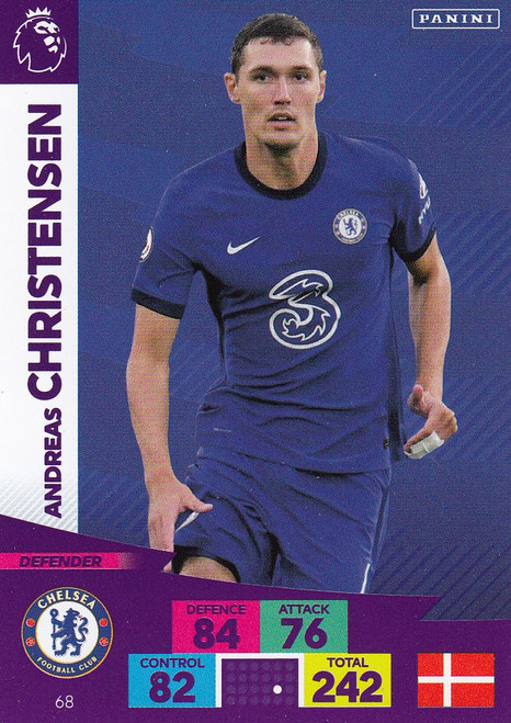 #68 Andreas Christensen (Chelsea) Adrenalyn XL Premier League 2020/21