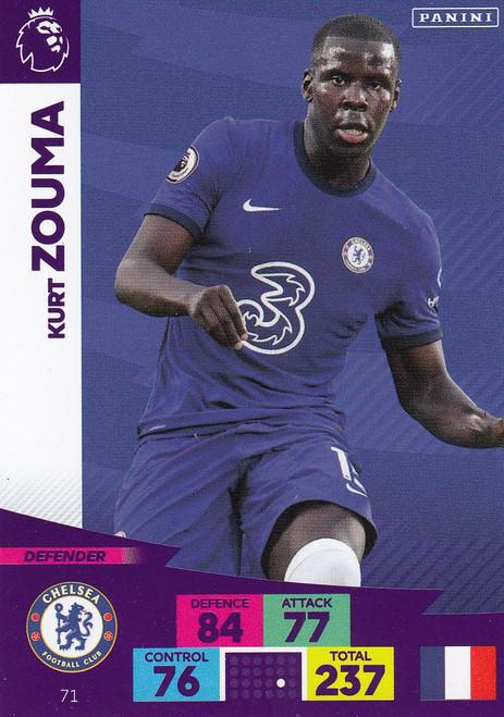 #71 Kurt Zouma (Chelsea) Adrenalyn XL Premier League 2020/21