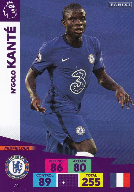 #74 N'Golo Kante (Chelsea) Adrenalyn XL Premier League 2020/21