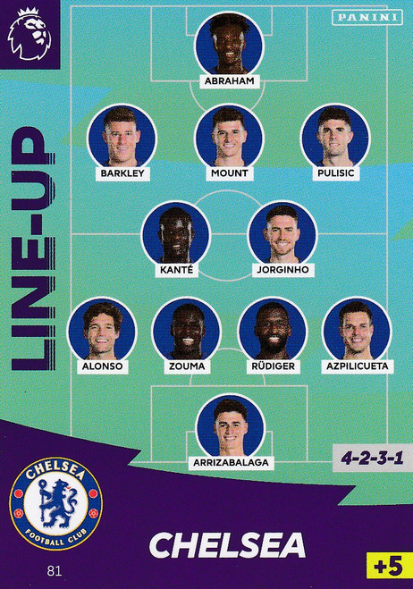 #81 Line Up (Chelsea) Adrenalyn XL Premier League 2020/21