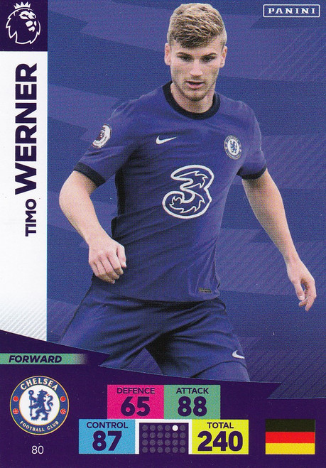 #80 Timo Werner (Chelsea) Adrenalyn XL Premier League 2020/21