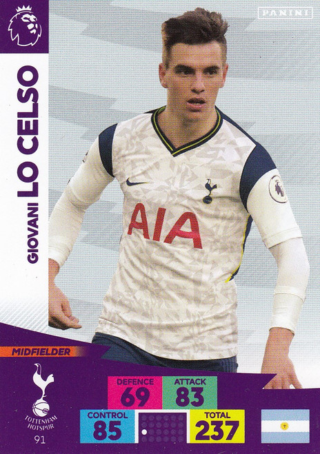 #91 Giovani Lo Celso (Tottenham Hotspur) Adrenalyn XL Premier League 2020/21
