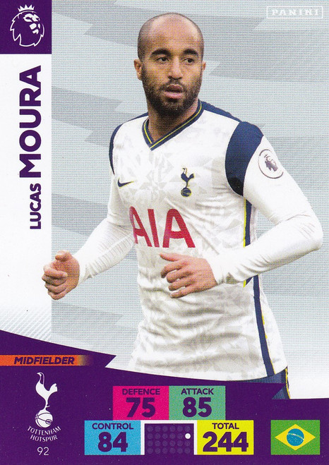 #92 Lucas Moura (Tottenham Hotspur) Adrenalyn XL Premier League 2020/21