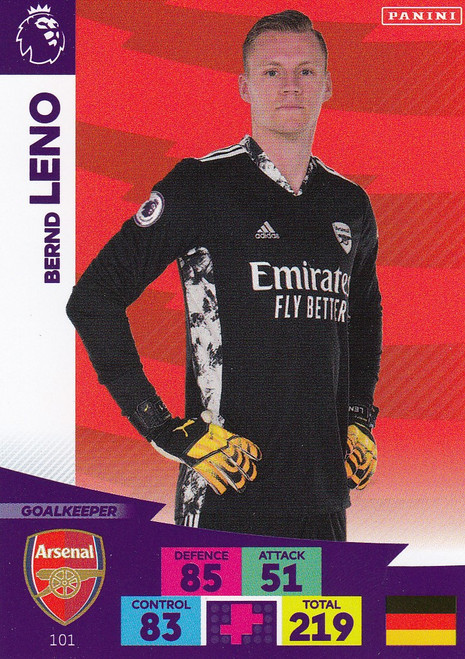 #101 Bernd Leno (Arsenal) Adrenalyn XL Premier League 2020/21