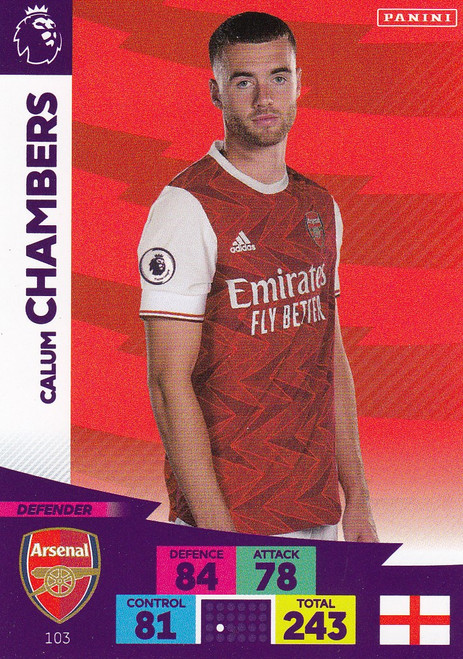 #103 Calum Chambers (Arsenal) Adrenalyn XL Premier League 2020/21