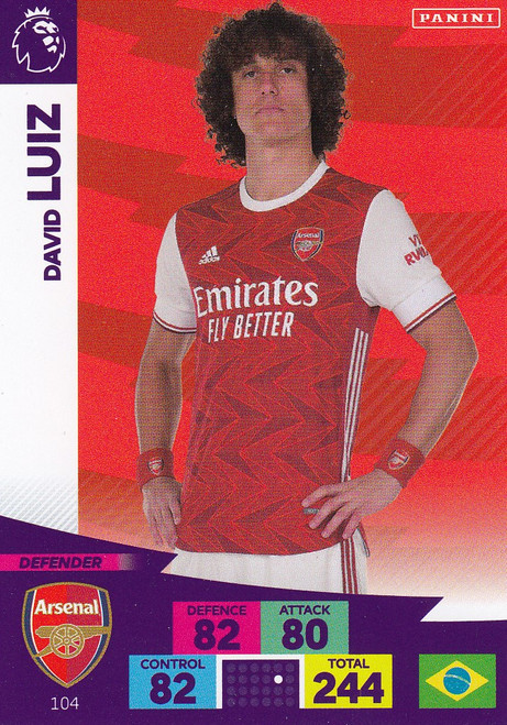 #104 David Luiz (Arsenal) Adrenalyn XL Premier League 2020/21