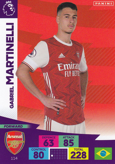 #114 Gabriel Martinelli (Arsenal) Adrenalyn XL Premier League 2020/21