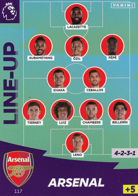 #117 Line Up (Arsenal) Adrenalyn XL Premier League 2020/21