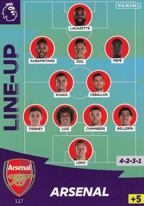 #117 Line Up (Arsenal) Adrenalyn XL Premier League 2020/21