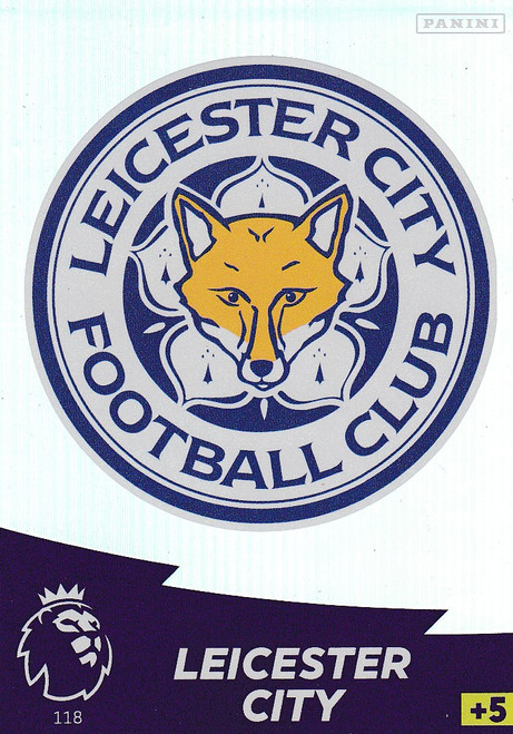 #118 Club Badge (Leicester City) Adrenalyn XL Premier League 2020/21