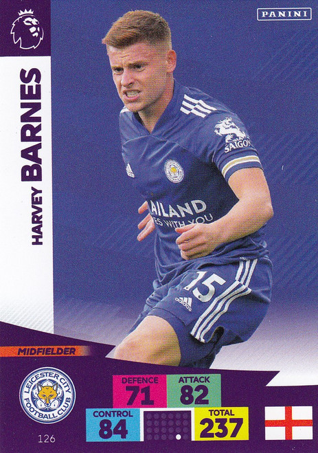 #126 Harvey Barnes (Leicester City) Adrenalyn XL Premier League 2020/21