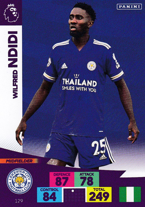 #129 Wilfred Ndidi (Leicester City) Adrenalyn XL Premier League 2020/21