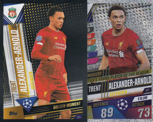 #GM1 Trent Alexander-Arnold (Liverpool FC) Match Attax 101 2019/20 GOLDEN MOMENTS