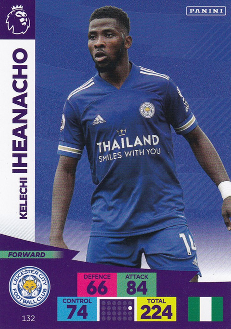 #132 Kelechi Iheanacho (Leicester City) Adrenalyn XL Premier League 2020/21