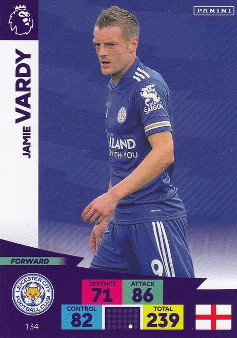 #134 Jamie Vardy (Leicester City) Adrenalyn XL Premier League 2020/21