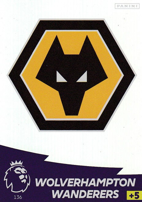 #136 Club Badge (Wolverhampton Wanderers) Adrenalyn XL Premier League 2020/21