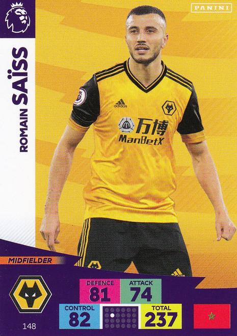 #148 Romain Saiss (Wolverhampton Wanderers) Adrenalyn XL Premier League 2020/21
