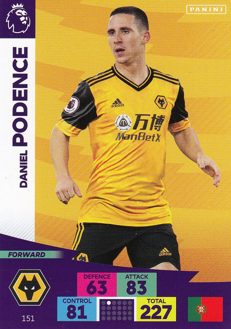 #151 Daniel Podence (Wolverhampton Wanderers) Adrenalyn XL Premier League 2020/21