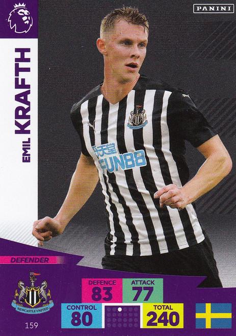 #159 Emil Krafth (Newcastle United) Adrenalyn XL Premier League 2020/21