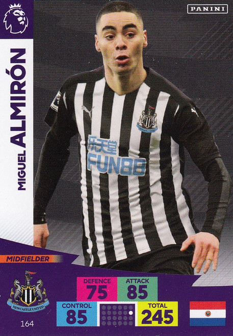 #164 Miguel Almiron (Newcastle United) Adrenalyn XL Premier League 2020/21