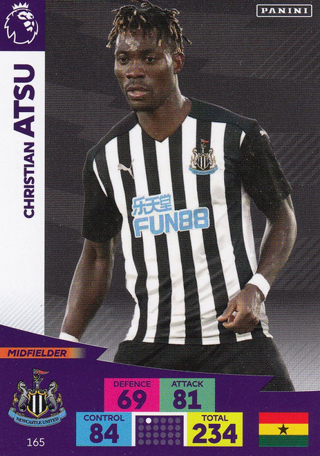 #165 Christian Atsu (Newcastle United) Adrenalyn XL Premier League 2020/21
