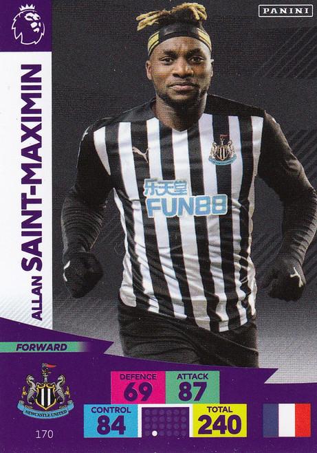 #170 Allan Saint-Maximin (Newcastle United) Adrenalyn XL Premier League 2020/21
