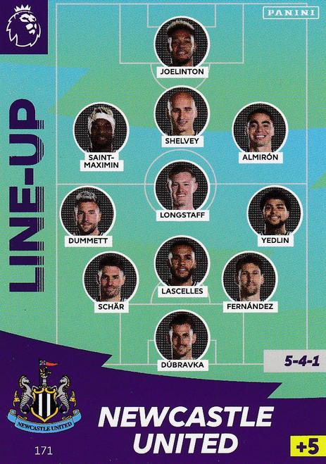 #171 Line Up (Newcastle United) Adrenalyn XL Premier League 2020/21
