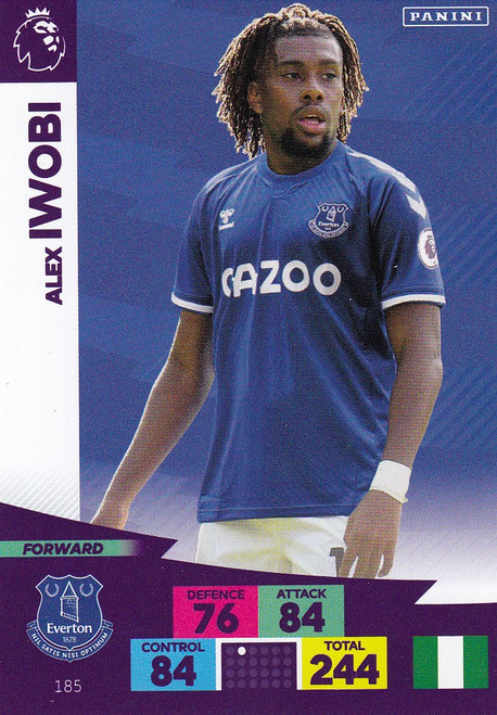 #185 Alex Iwobi (Everton) Adrenalyn XL Premier League 2020/21