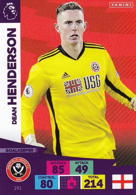 #191 Dean Henderson (Sheffield United) Adrenalyn XL Premier League 2020/21
