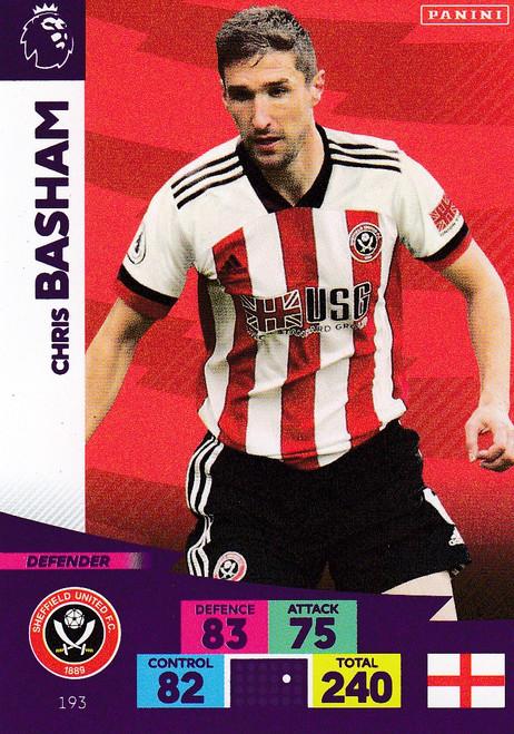 #193 Chris Basham (Sheffield United) Adrenalyn XL Premier League 2020/21