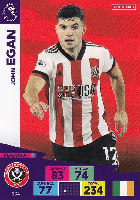#194 John Egan (Sheffield United) Adrenalyn XL Premier League 2020/21