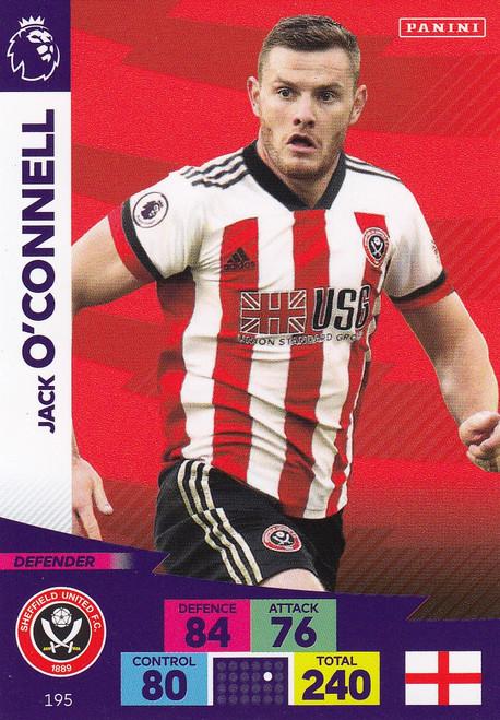 #195 Jack O'Connell (Sheffield United) Adrenalyn XL Premier League 2020/21