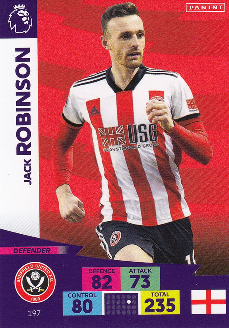 #197 Jack Robinson (Sheffield United) Adrenalyn XL Premier League 2020/21