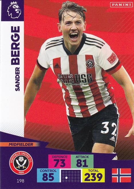 #198 Sander Berge (Sheffield United) Adrenalyn XL Premier League 2020/21