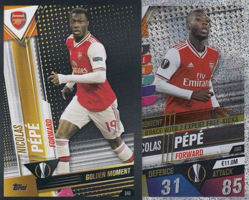 #GM8 Nicolas Pepe (Arsenal FC) Match Attax 101 2019/20 GOLDEN MOMENTS