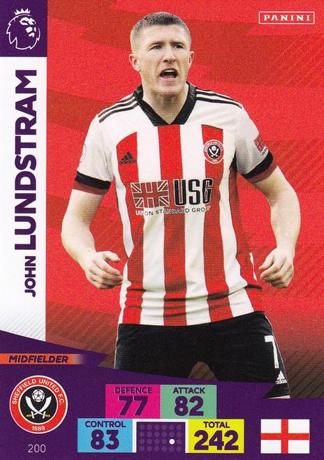 #200 John Lundstram (Sheffield United) Adrenalyn XL Premier League 2020/21