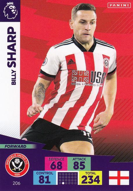 #206 Billy Sharp (Sheffield United) Adrenalyn XL Premier League 2020/21