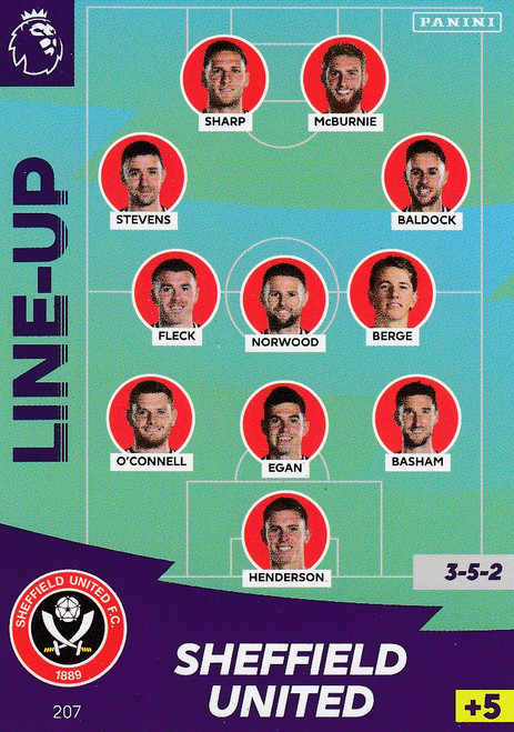 #207 Line Up (Sheffield United) Adrenalyn XL Premier League 2020/21