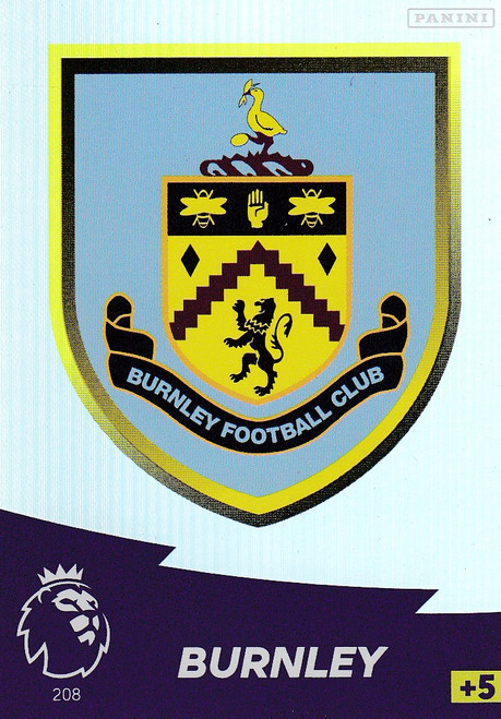 #208 Club Badge (Burnley) Adrenalyn XL Premier League 2020/21