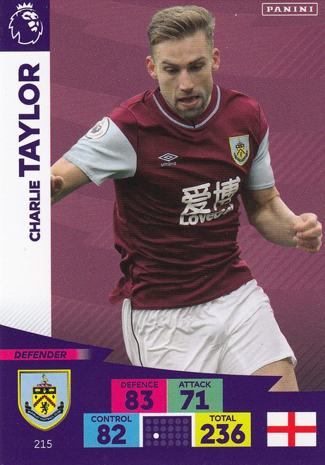 #215 Charlie Taylor (Burnley) Adrenalyn XL Premier League 2020/21