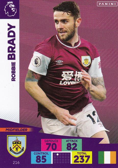#216 Robbie Brady (Burnley) Adrenalyn XL Premier League 2020/21