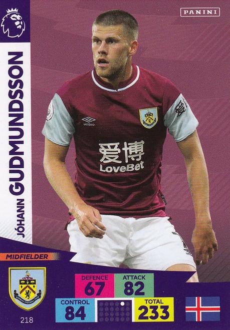 #218 Johann Gudmundsson (Burnley) Adrenalyn XL Premier League 2020/21