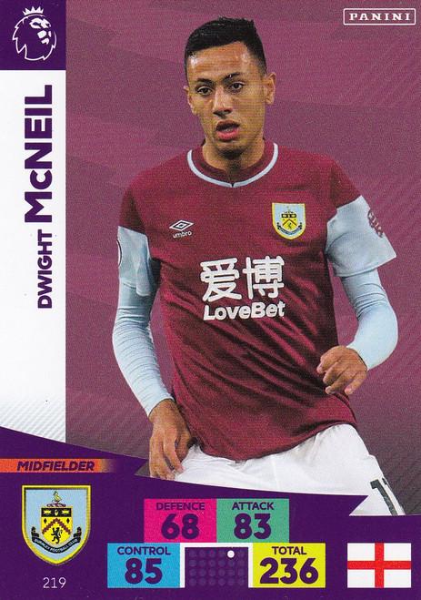 #219 Dwight McNeil (Burnley) Adrenalyn XL Premier League 2020/21
