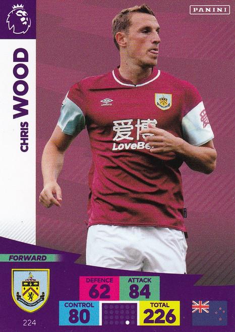 #224 Chris Wood (Burnley) Adrenalyn XL Premier League 2020/21
