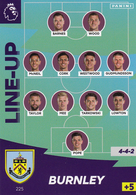 #225 Line Up (Burnley) Adrenalyn XL Premier League 2020/21