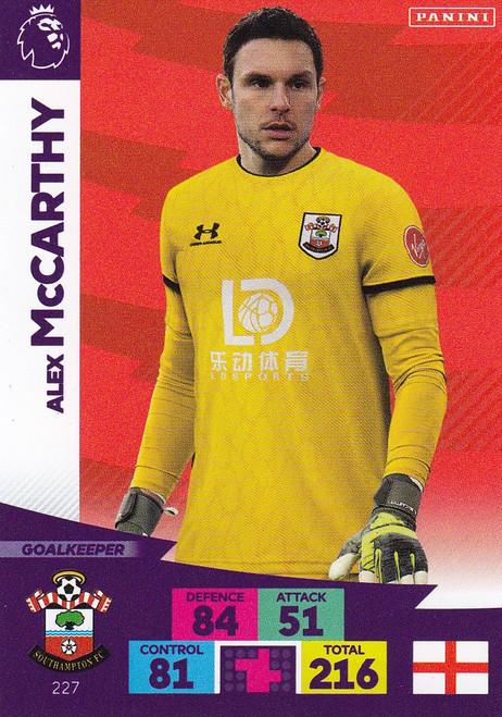 #227 Alex McCarthy (Southampton) Adrenalyn XL Premier League 2020/21